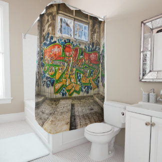 Graffiti Art Lost  Abandoned Building Shower
