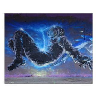 Graffiti Astronaut Perfect Poster