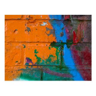 Graffiti Brick Postcard