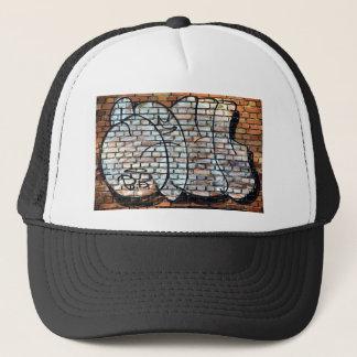 Graffiti Brick Wall Pattern Trucker Hat