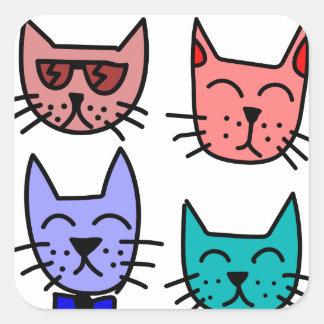 Graffiti Cats Square Sticker