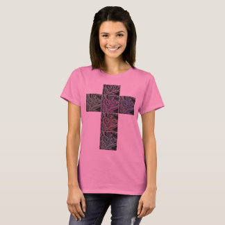 Graffiti Christianity At Birth Cross Print T Shirt