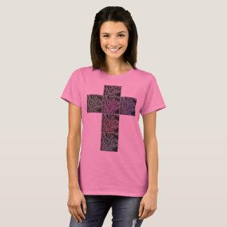 Graffiti Christianity At Birth Cross Print T Shirt