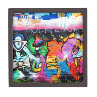 graffiti Colors Art Painting Premium Keepsake Boxes