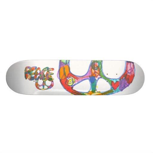 Graffiti Design Peace Skateboard