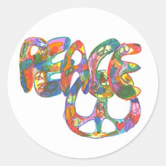 Graffiti Design Peace Sticker