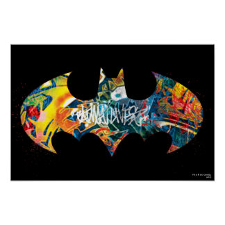 Graffiti du logo Neon/80s de Batman