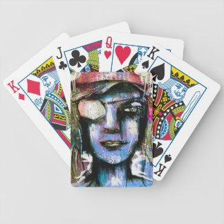 graffiti face poker deck