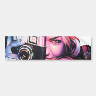 Graffiti Girl Photographer Bumper Sticker