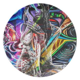 Graffiti girl plates