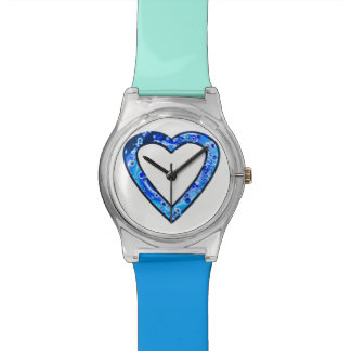 Graffiti Heart (blue) Wristwatches
