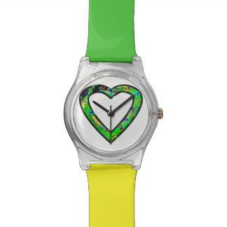 Graffiti Heart (green) Wristwatches