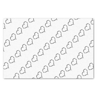 Graffiti heart Party Tissue Paper