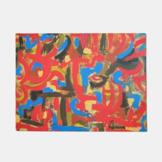 Graffiti In The Attic-Abstract Art Brushstrokes Doormat