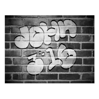 Graffiti John 3:16 Postcard
