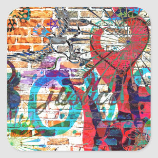 Graffiti Justice Square Sticker