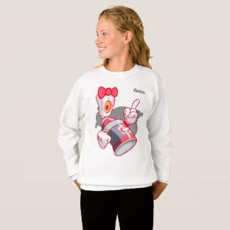 Graffiti Kids Hoodie: Girls Spray Can Streetwear Sweatshirt