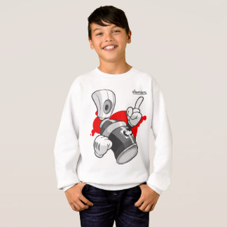 Graffiti Kids Sweatshirt: Spray Can Streetwear Sweatshirt