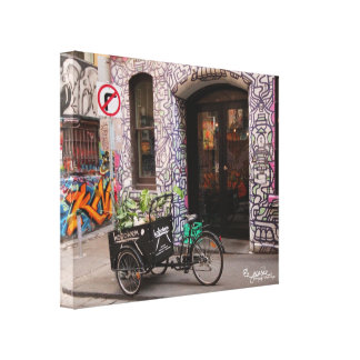 Graffiti Laneway Wrapped Canvas Print