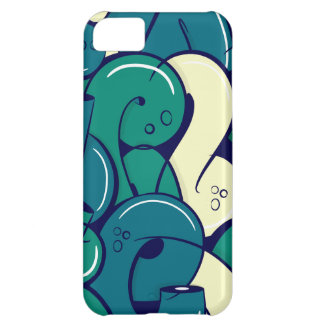 Graffiti letters - green case for iPhone 5C