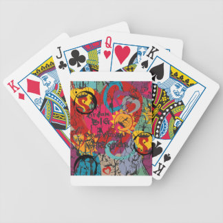 Graffiti Love Bicycle Playing Cards
