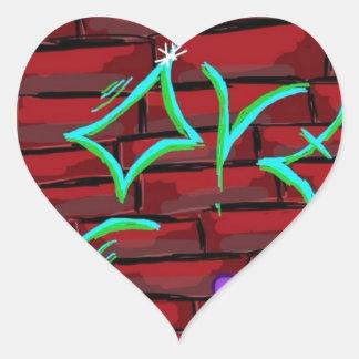 Graffiti Love Heart Sticker