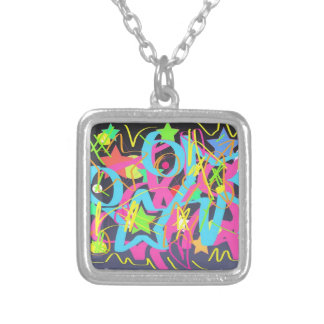 Graffiti love necklace