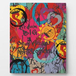 Graffiti Love Plaque