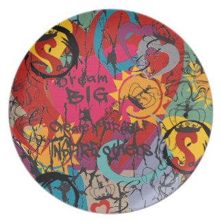 Graffiti Love Plate