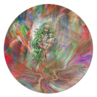Graffiti Madonna Plate