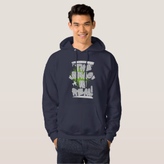 Graffiti Mens: The Swag is Real Streetwear Hoodie