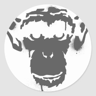 Graffiti Monkey Classic Round Sticker
