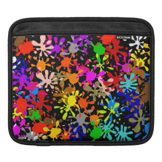 Graffiti Multi Paint Splatter Wallpaper Design iPad Sleeve