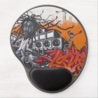 graffiti music gel mouse pad