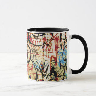 Graffiti on a wall mug