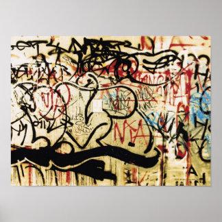 Graffiti on a wall print