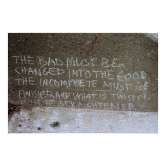 Graffiti on North Wall, Stairs to Kitsilano Beach Poster