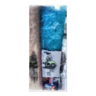 """Graffiti on the wall 4"""" x 9.25"""" invitation card"""