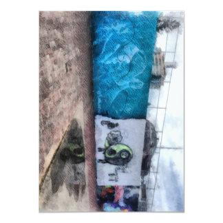"""Graffiti on the wall 4.5"""" x 6.25"""" invitation card"""