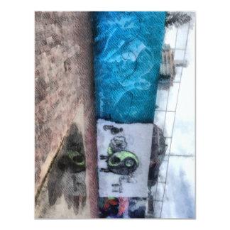 """Graffiti on the wall 4.25"""" x 5.5"""" invitation card"""