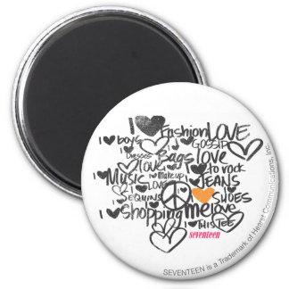 Graffiti Orange Magnet