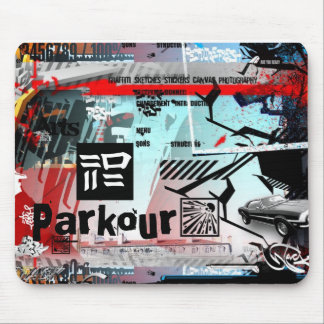 graffiti Parkour Mouse Pad