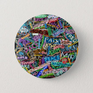 graffiti peace international translation 2 inch round button