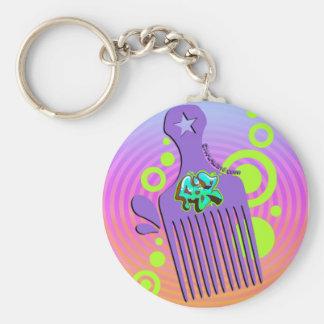 Graffiti Pick Basic Round Button Keychain