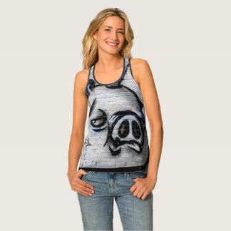 Graffiti Piggy Character Tank Top