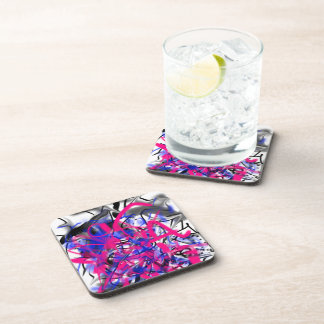 Graffiti Plastic Coasters