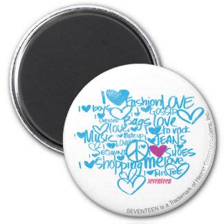 Graffiti Purple/Aqua 2 Inch Round Magnet
