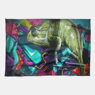 Graffiti reptile kitchen towel