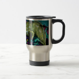 Graffiti reptile travel mug
