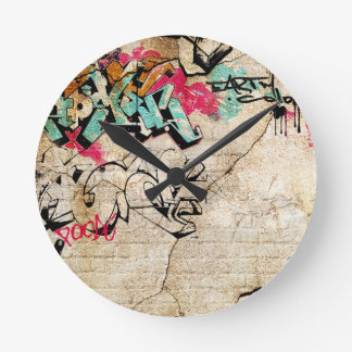 Graffiti Round Clock